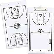 Basketball Dry Erase Clipboard for Coaches, Double-Sided (9 x 16 in)