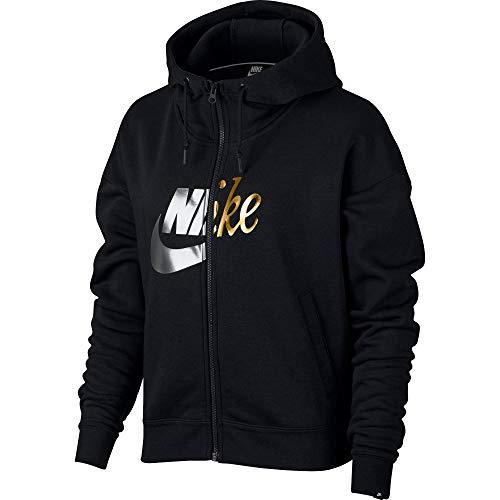 Fz Metallic Hoodie Nike W Chaqueta black Negro Mujer Nsw Rally FxqxBXaI