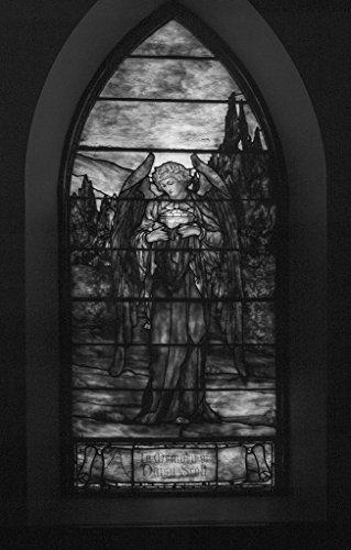 (18 x 24 B&W Photo The Scott Window, a Stained-Glass Window at St. Matthew's Episcopal Church in Wheeling, West Virginia 2015 Highsmith 03a)