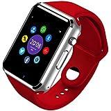 Generica - Smartwatch A1 Bluetooth con Cámara, Altavoz, Micrófono y Sim Rojo