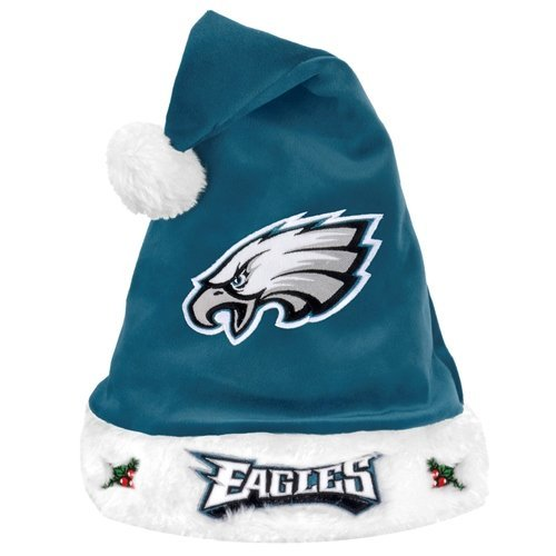 Philadelphia Eagles Santa - Forever Collectibles NFL Philadelphia Eagles Santa Hat, Midnight Green