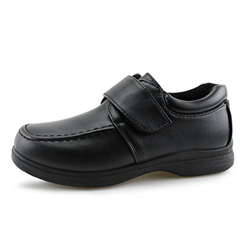 Hawkwell Kids School Uniform Dress Shoe(Toddler/Little Kid),Black PU,13 M (School Uniforms Shoes)