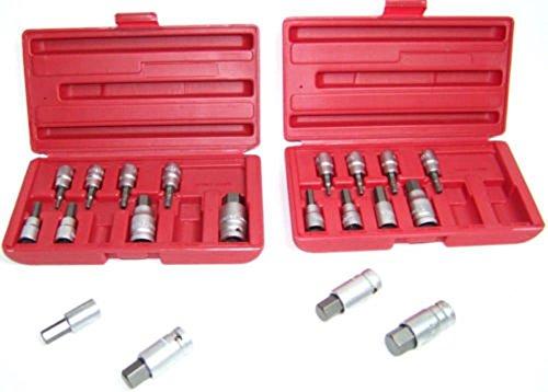 Socket Sets 20pc Hex Bit Socket Set Metric & SAE Allen Wrench Tools 3/8