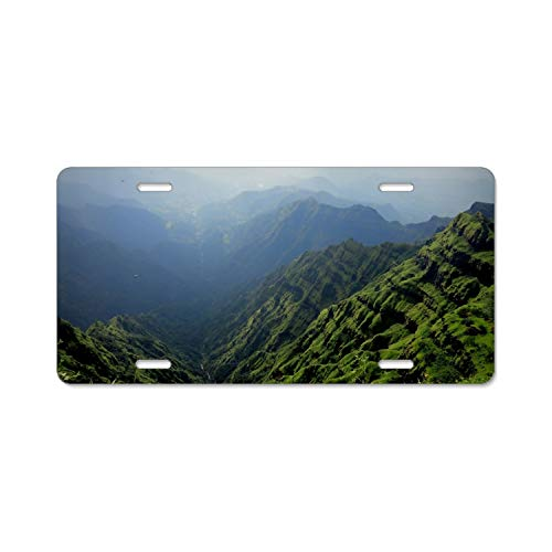 Zogpemsy Mountain Home,Bathroom and Bar Wall Decor Car Vehicle License Plate Metal Tin Sign Plaque