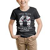 CALMFOX Kids Tee Shirts This-Team-Makes-Me-Drink-Twins- Fashion Short Sleeve