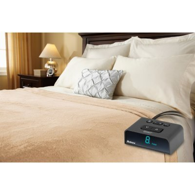 Holmes Premium Soft Velvet Plush Queen Heated Blanket Auto Shut-off with 10 Heat Settings, Beige by Holmes