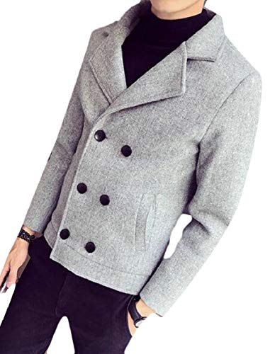 Breasted 3 Sleeve Jacket security Mens Blend Wool Classic Long Double Blazer Coat qwnXxnPHaF