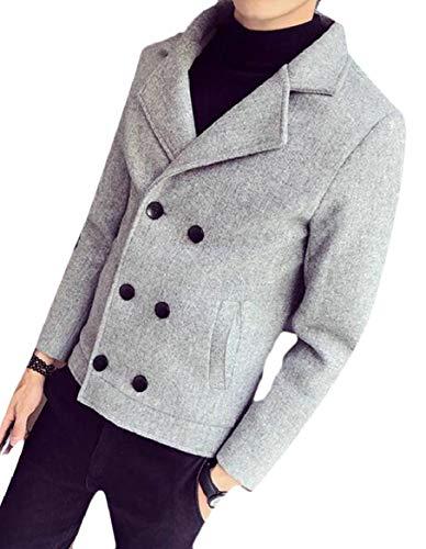 Double 3 Sleeve Breasted Jacket security Blazer Classic Blend Long Mens Wool Coat wBPnIW6qO