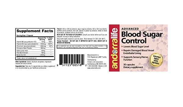Amazon.com: Andorralife Advanced Blood Sugar Control: Health & Personal Care