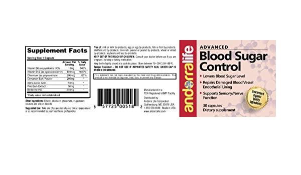 Amazon.com: Andorralife Advanced Blood Sugar Control: Health & Personal Care