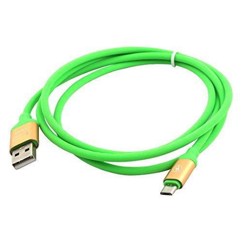eDealMax Caoutchouc USB 2.0 Pour le transfert Micro USB Cble de Charge 1.3M Long Green