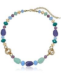 "Napier ""Free Spirit Purple"" Gold-Tone/Multi Adjustable Collar Necklace, 16"" + 3"" Extender"