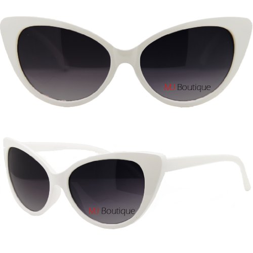 Womens High Pointed Cat Eye Sunglasses Retro Vintage, - Kardashian Cat