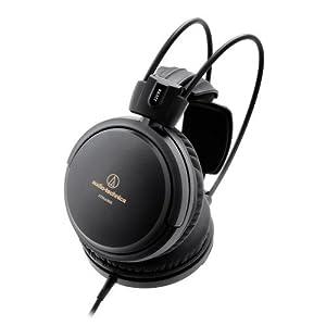 Audio-Technica ATH-A550Z Art Monitor Closed-Back Dynamic Headphones, Black