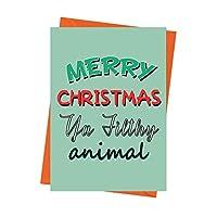 Funny Christmas Card, Home Alone Card, Funny Holiday Card, Xmas Card, Merry Christmas Ya Filthy Animal Greeting Card