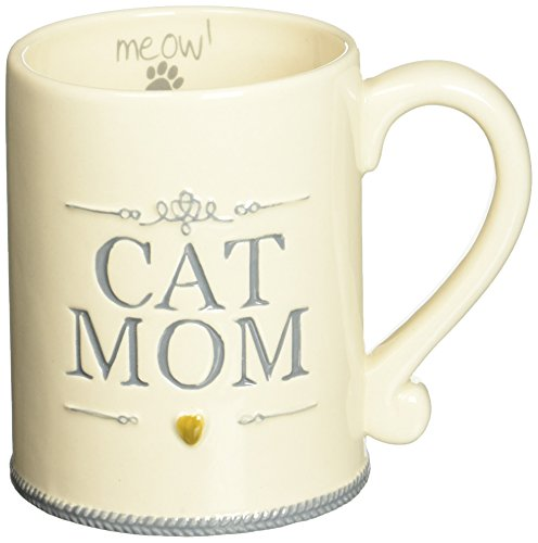 ''Cat Mom'' Ceramic Coffee Mug Meow Animal Pet Lover Gift Grasslands Road by Grasslands Road