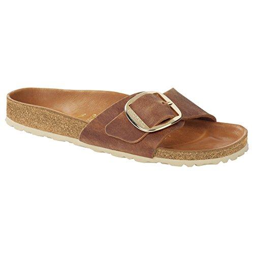 Birkenstock Madrid Big Cognac Leather 40 (US Women's (Big Buckle Sandals)