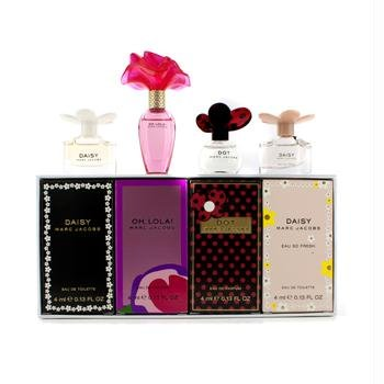 Marc Jacobs Miniature Coffret: Dot + Daisy + Daisy Eau So Fresh + Oh Lola! 4x4ml/0.13oz