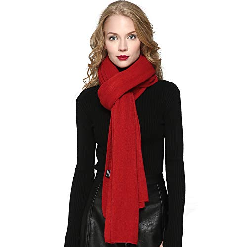 ZORJAR Women's Men Fashion Long Shawl Plush Knit Winter Warm Large Scarf (86