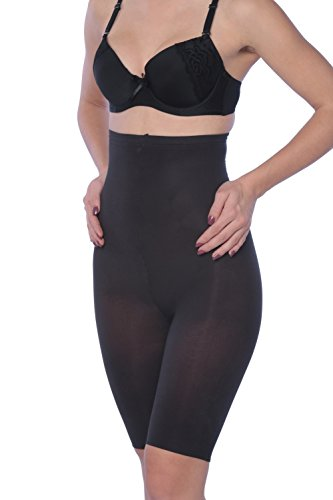 UPC 602464616065, Hanes Plus Size High-Waisted Thigh Shapers - Extended Sizes - Black - XX-Large