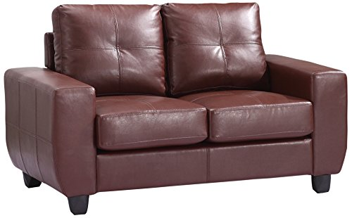 Glory Furniture G200A-L Living Room Love Seat, Brown
