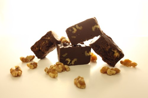 Oh Fudge - Chocolate Walnut Fudge 1 Pound - The Oh Fudge Co. secret chocolate walnut fudge recipe - Rich, Pure, Delicious Creamy, Packed with real walnuts, Chocolate Walnut Fudge Made with Real Cream and Butter ohfudge.net - compared to Mo's Fudge Factor