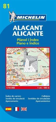 Alicante - Michelin City Plan 81: City Plans (Planos Michelin)