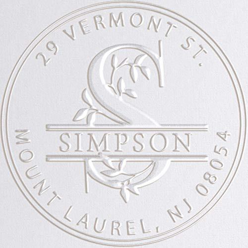 - Monogram Address Embosser Seal Stamp Personalized Customized Monogram Wedding Invitations 1 x 5/8