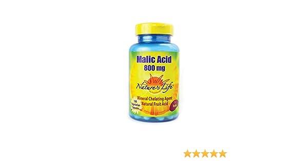 Natures Life Malic Acid, Veg Cap 800mg 100ct