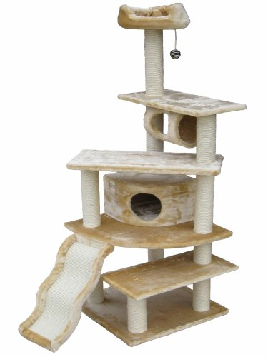 GoPetClub 70″ Cat Furniture Tree Condo House Scratcher Post F71, My Pet Supplies