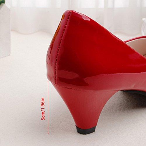 Top-Sell 2017 Verano Las Mujeres De Tacón Alto De Las Sandalias Del Deslizador Para Las Mujeres Ocasionales De La Manera Sandalias De Zapatos Rojo