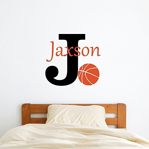 Amazon.com: Custom Name Basketball Wall Decal   Boys Girls Personalized  Name Basketball Sports Wall Sticker   Custom Name Sign   Custom Name  Stencil ...