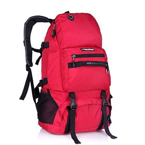 40L große Kapazität Tasche Schultertasche Sporttasche Bergsteigen Rucksack Rot gKuwkTI