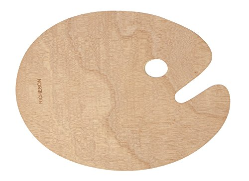 Jack Richeson 696037 Wooden Oval Palette, 12' x 16'
