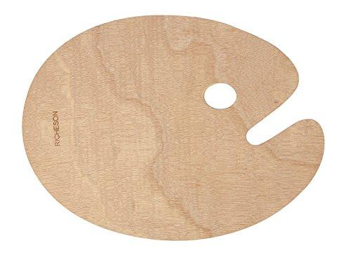 - Jack Richeson 696037 Wooden Oval Palette, 12