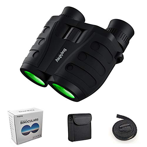 12x25 Compact Pocket Folding Binoculars for Adults Kids, Low Light Night Vision High Powered Lightweight Waterproof HD Professional Mini Binocular Telescope for Outdoor Hunting, Bird Watching, Hiking