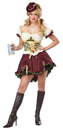 California Costumes Women's Eye Candy - Beer Garden Girl Adult, Burgundy/Green, Small (Lederhosen Womens Costume)