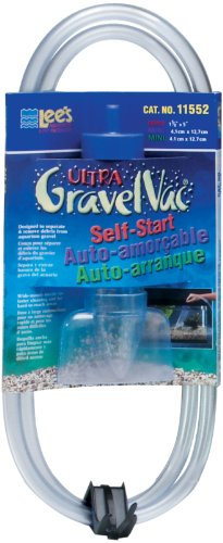 Lee's Ultra GravelVac, Self-Start with Nozzle & Hose Clip - 5' Mini