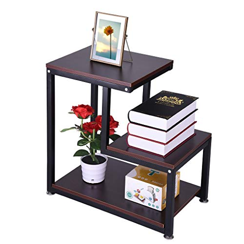 XGao Nightstand Side Table End Table Bedside Table Locker 3-Tier with Storage Shelf Rustic Wooden Assemble Storage Cabinet for Living Room Bedroom Kid's Room Storage Accent Home Funiture (Wine)