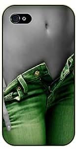 Surelock iPhone 5 / 5s Sexy girl in green - black plastic case, hot girl, girls