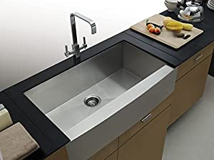 on sale aquarius undermount apronfront farmhouse stainless steel kitchen sink. Black Bedroom Furniture Sets. Home Design Ideas