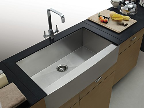 Kitchen Farm Sink (On Sale Aquarius Undermount ApronFront Farmhouse Stainless Steel Kitchen Sink)