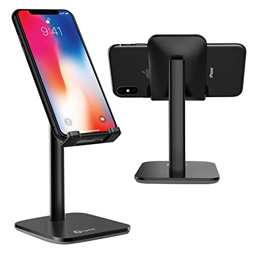 (Cell Phone Stand Holder, Multi-Angle Adjustable Smart Phone Desk Stand Dock, Compatible with iPhone, Samsung Galaxy and All Android Phone Up to 10.5 Inch)