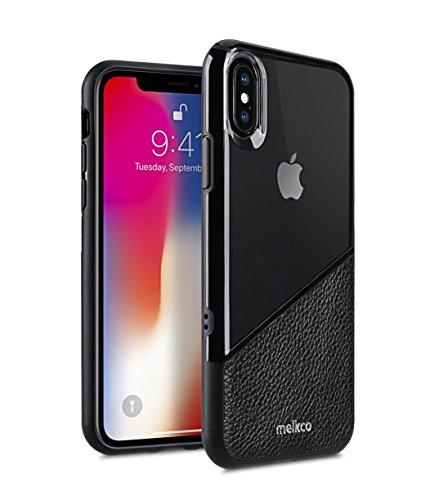 Melkco Kubalt Edelman Series Layer Apple iPhone X Support Wireless Charging Rugged Case, Shock Protection, Raised Bevel, Edge Protection, Military Grade Case - Black by Melkco