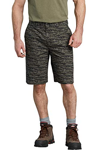 Dickies Genuine Camo Ripstop Regular Fit 13 Inch Shorts, Rinse Dusty Olive (Rinse Dusty Olive, 36) ()