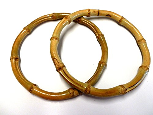 - Bamboo O'rings/Bangles 2 Per Pack (2 7/8 Inch, Natural)