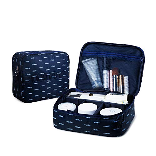 62c57aa6f3dd JECIMER Travel Makeup Bag Train Case Cosmetic Bags Adjustable ...