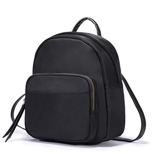 HaloVa Backpack, Women's Shoulders Bag, Mini Multifunction Daypack Satchel Crossbody Bag for Girls Lady, Trendy and Concise, Black (Mini Backpack Bag)
