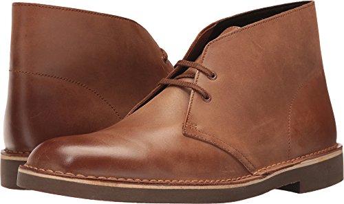 (CLARKS Men's Bushacre 2 Chukka Boot, Dark tan Leather, 10 Medium US)