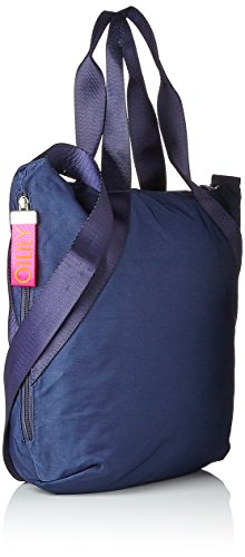 Oilily Fun Nylon Shopper Lvz - Borse a secchiello Donna, Blau (Dark Blue), 10x38x32 cm (B x H T)